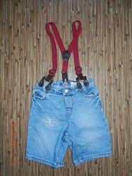 Джинсовый комбинезон шорты на лето H&M 86-92-98