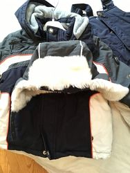 Продам зимний комплект для мальчика - курточка, комбинезон и шапочка