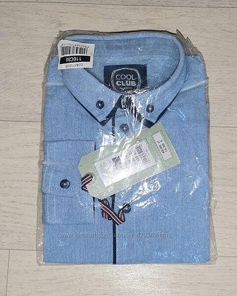 Котоновые рубашки Cool Club и OVS рост 116, 122 и 146