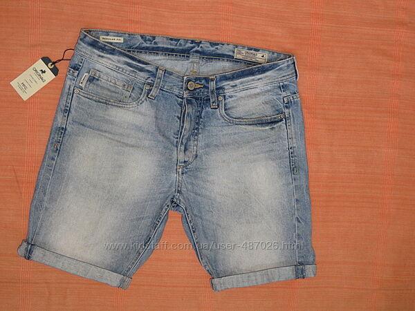 Джинсовые шорты Jack&Jones W33-34 наш50 шир пояса-45 см, оригинал