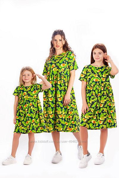 Платье для девочек и мам в стиле Family look