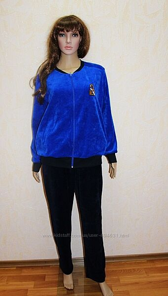Молодежный женский велюровый спортивный костюм