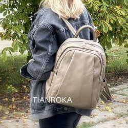Новая коллекция. Вместительный городской рюкзак, 3 цвета. Кожа, Италия