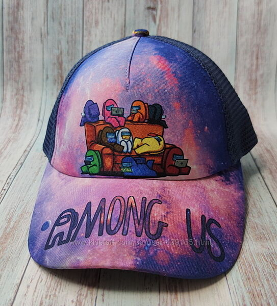 Подростковая кепка бейсболка для мальчика 52-56р. among us амонг ас