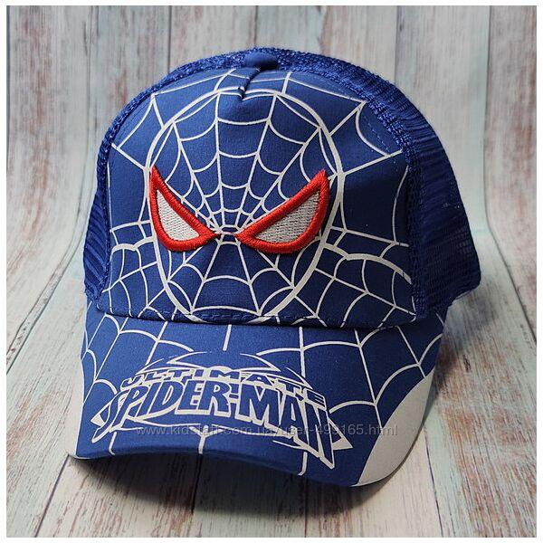 Детская кепка бейсболка для мальчика 50-52р. человек паук синяя
