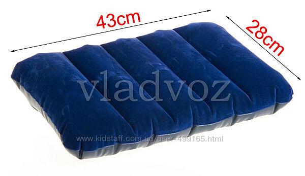 Надувная флокированная подушка  intex 68676 4328см