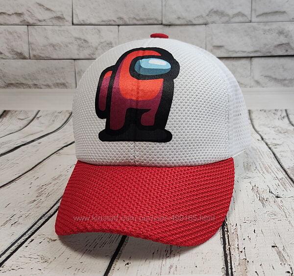 Подростковая детская кепка бейсболка для мальчика 52-56р. among us амонг ас