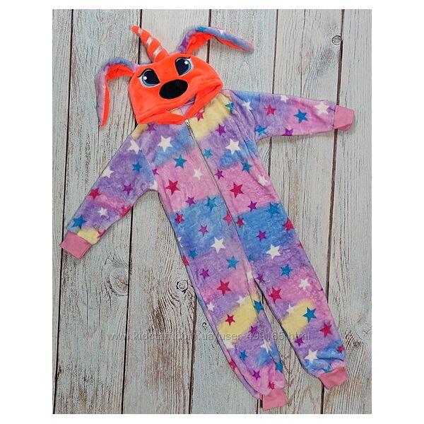Детский кигуруми кенгуру пижама для девочки 6-9 лет пони единорог