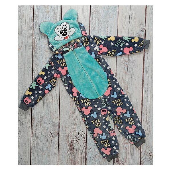 Детский кигуруми кенгуру пижама для девочки 4-9 лет минни маус