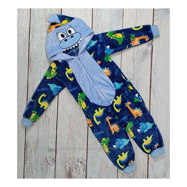 Детский кигуруми кенгуру пижама для мальчика 4-5 лет. голубой динго
