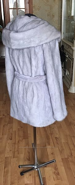 Роскошная норковая шуба голубая норка 42-44
