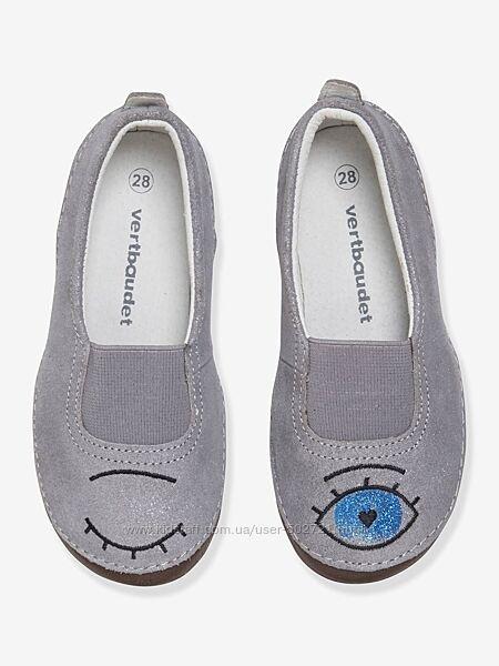 Замшевые туфельки Vertbaudet, стелька 19см