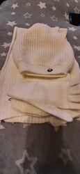Комплект Adidas  оригинал шапка шарф перчатки
