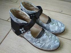 Ортопедические новые туфли девочке 34размер, 21,5см