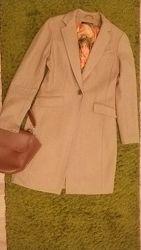 Женское классическое шерстяное пальто New Look цвета camel кэмэл