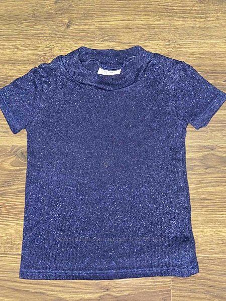 Блестящая трикотажная футболка Next