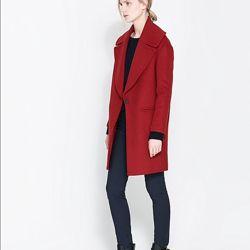 Шерстяное пальто oversaize Zara