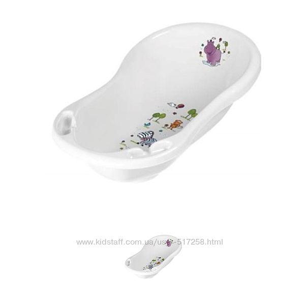 Детская ванночка для купания Польша Keeeper 84 см Hippo белая