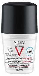 Vichy Men 48H Antiperspirant Deodorant Anti-Marks 50ml