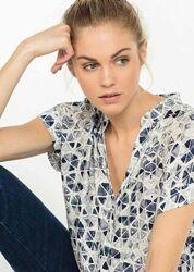Легкая вискозная блуза. Франция. От короля трикотажа. Т2-Т3 Size