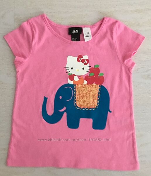 Новая футболка H&M Hello, Kitty