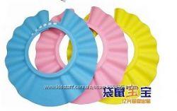 Шапочка-козырек для купания  розовая и желтая