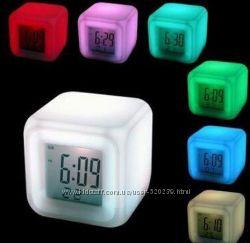 Часы - Будильник - Ночник  с термометром