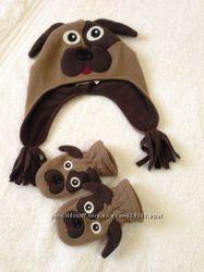 Шапка с варежками Собачки Childrensplace