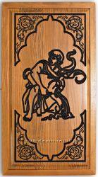 Нарды с выризбленным знаком зодиака Водолей