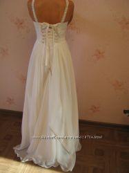 Красивое свадебное платье в греческом стиле