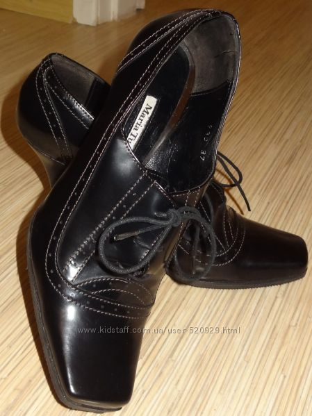 Модные демисезонные итальянские ботинки   оригинал MariaTucci черные 37 р