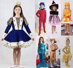 Костюм новый карнавал для девочки 98-140 разные герои Украина фабрика