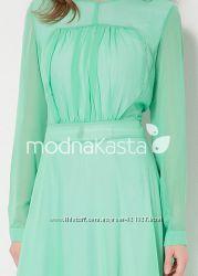 d073fc723d2 мятный браслет в подарок шифоновое зеленое макси платье в пол шифон ...