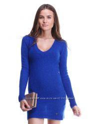 синее яркое  теплое мохеровое итальянское  платье туника Италия