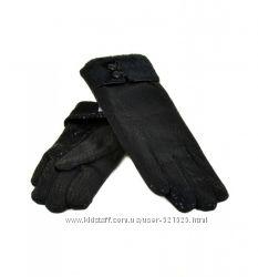 Женские перчатки стрейч-шерсть