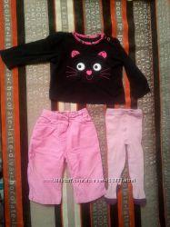 Фирменные кофточка, штанишки и колготки для кнопки 6-12 мес.