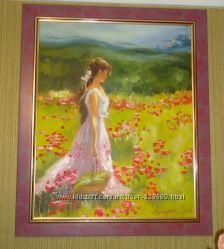 Картина на холсте маслом Поле маков