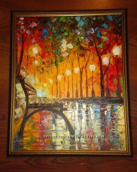 Картина на холсте маслом Золотая осень