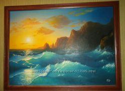 Картина на холсте маслом Морской Пейзаж