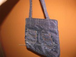 Сумка из ткани под джинс