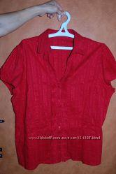 Нарядная блузка, рубашка р. 56