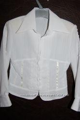 Блузка, рубашка нарядная для школьницы р. 110-116