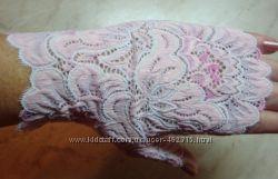 Перчатки-митенки под выпускные платья цветные