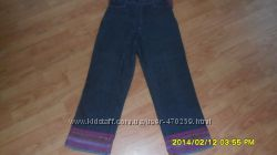Бриджи джинсовые с манжетами разм S M Италия.