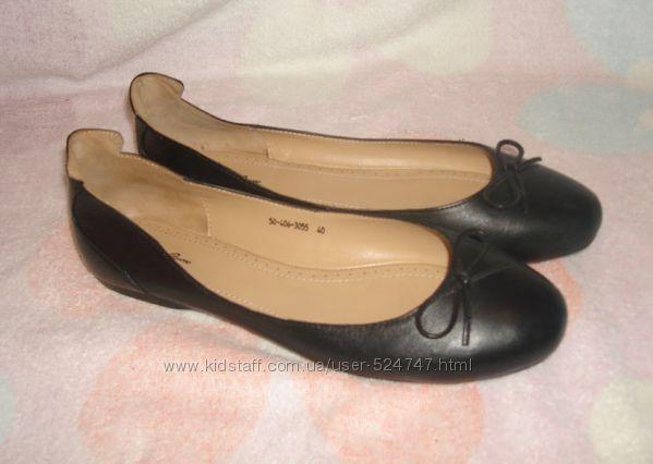 Кожаные мягкие балетки CorsoComo на узкую ногу 40 размер. Новые, в коробке.