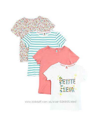Набор из 4-х футболок MARKS&SPENSER на девочку на 3-4 года на рост 104 см