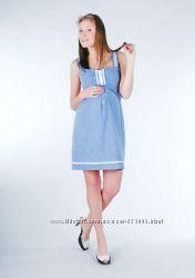 Сарафан для беременных летний, цвет голубой, артикул 486