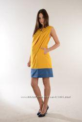 Сарафан для беременных, цвет желтый, артикул 636