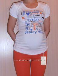 Футболка для беременных, цвет белый, артикул 625