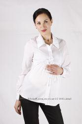 Блуза рубашка для беременных, цвет белый, артикул 296